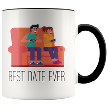 Load image into Gallery viewer, Best Date Ever Funny Video Gamer Coffee Mug Humor - Hundredth Monkey Tees