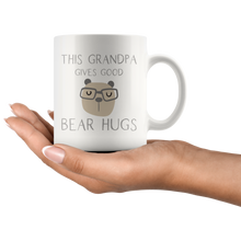 Load image into Gallery viewer, This Grandpa Gives Good Bear Hugs Coffee Mug - Hundredth Monkey Tees