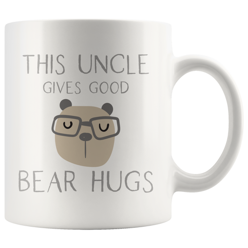 This Uncle Gives Good Bear Hugs Coffee Mug - Hundredth Monkey Tees