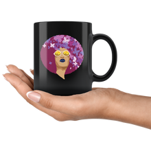 Load image into Gallery viewer, African American Queen Bohemian Coffee Mug Vintage Retro Afro Butterflies - Hundredth Monkey Tees