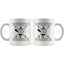 Load image into Gallery viewer, Weekend Warrior Fishing Coffee Mug Cross Arrows Gift - Hundredth Monkey Tees