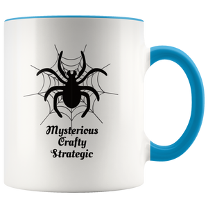 Spider Totem Animal Spirit Insect Coffee Mug Mysterious Crafty Strategic - Hundredth Monkey Tees