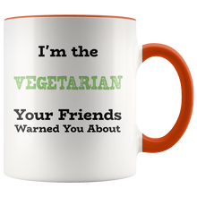 Load image into Gallery viewer, Funny Vegetarian Humor Coffee Mug Joke Saying Gift - Hundredth Monkey Tees