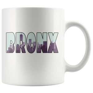 Bronx Skyline Coffee Mug Souvenir City New York Gift - Hundredth Monkey Tees