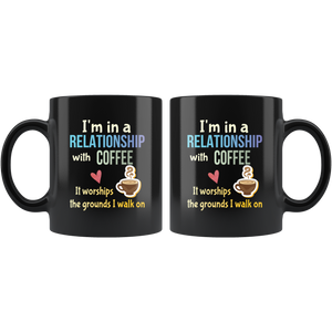 Funny Coffee Lovers Mug Committed Relationship Pun - Hundredth Monkey Tees
