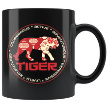 Load image into Gallery viewer, Chinese Zodiac Tiger Coffee Mug Astrology Horoscope Gift - Hundredth Monkey Tees