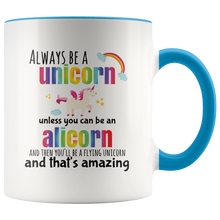 Load image into Gallery viewer, Cute Alicorn Always Be a Unicorn Coffee Mug - Hundredth Monkey Tees