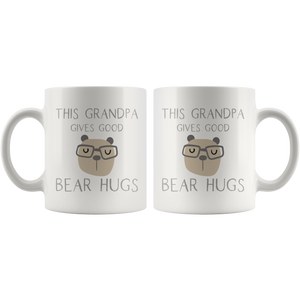 This Grandpa Gives Good Bear Hugs Coffee Mug - Hundredth Monkey Tees