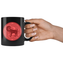 Load image into Gallery viewer, Aries Birthday Astrology Zodiac Birth Signs Coffee Mug Black - Hundredth Monkey Tees