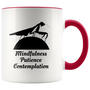 Praying Mantis Totem Animal Coffee Mug Mindfulness Patience Contemplation - Hundredth Monkey Tees