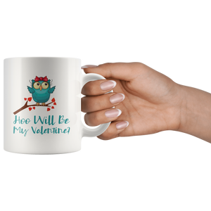 Valentine Owls Cute Valentine's Day Coffee Mug Matching Couples - Hundredth Monkey Tees