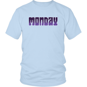 Monday Shirt Groovy Days of the Week Tshirt - Hundredth Monkey Tees