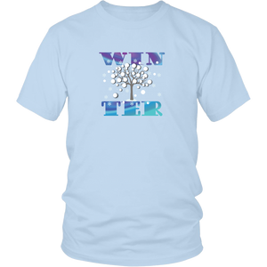 Winter Tshirt Word Art Seasonal Gift Shirt - Hundredth Monkey Tees