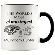 Load image into Gallery viewer, World's Most Amazingest Mushroom Hunter Mycology Coffee Mug - Hundredth Monkey Tees