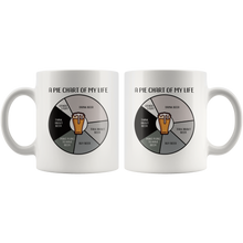 Load image into Gallery viewer, Funny Beer Pie Chart Coffee Mug Drinking Lovers Joke Gag Gift - Hundredth Monkey Tees