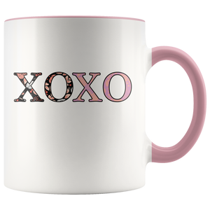 Valentine's Day XOXO Coffee Mug Happy Hugs Kisses Love Day - Hundredth Monkey Tees