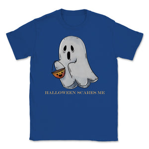 Cute Funny Ghost Halloween Scares Me product Unisex T-Shirt - Royal