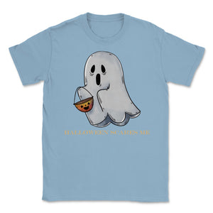 Cute Funny Ghost Halloween Scares Me product Unisex T-Shirt - Light Blue