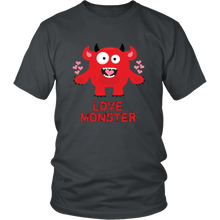 Load image into Gallery viewer, Love Monster Shirt Valentine's Day Tshirt Men Women Adults - Hundredth Monkey Tees