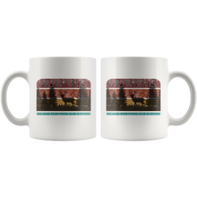 Load image into Gallery viewer, Funny Retro Hunter Coffee Mug Hunting Because Everything Else is Stupid - Hundredth Monkey Tees