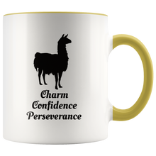 Load image into Gallery viewer, Llama Totem Spirit Animal Coffee Mug Charm Confidence Perseverance - Hundredth Monkey Tees