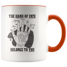 Load image into Gallery viewer, Palmistry Astrology Fate Palm Reading Coffee Mug - Hundredth Monkey Tees