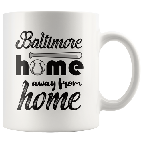 Baltimore Baseball Coffee Mug Maryland Sports Fans Mug - Hundredth Monkey Tees