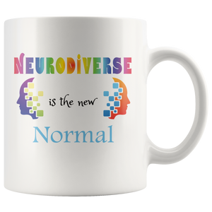 Neurodiverse Coffee Mug Celebrate Neurodiversity in Family Friends Society - Hundredth Monkey Tees