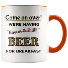 Load image into Gallery viewer, Funny Beer For Breakfast Coffee Mug for Morning Drinkers - Hundredth Monkey Tees
