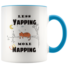 Load image into Gallery viewer, Less Yapping More Cat Napping Funny Coffee Mug for Cat Lovers - Hundredth Monkey Tees