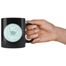 Load image into Gallery viewer, Cancer Birthday Astrology Zodiac Birth Signs Coffee Mug Black - Hundredth Monkey Tees