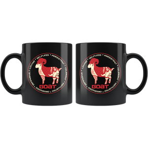 Chinese Zodiac Year of the Goat Coffee Mug Astrology Horoscope Gift - Hundredth Monkey Tees