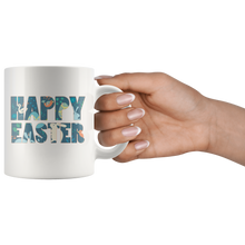 Load image into Gallery viewer, Happy Easter Coffee Mug Gift Bunny Eggs Spring - Hundredth Monkey Tees