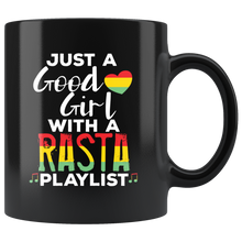 Load image into Gallery viewer, Just a Good Girl with a Rasta Playlist Coffee Mug Women - Hundredth Monkey Tees