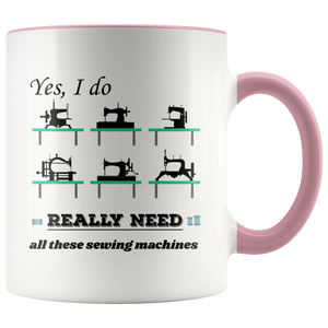 Vintage Sewing Machine Collectors Lovers Funny Humor Coffee Mug - Hundredth Monkey Tees