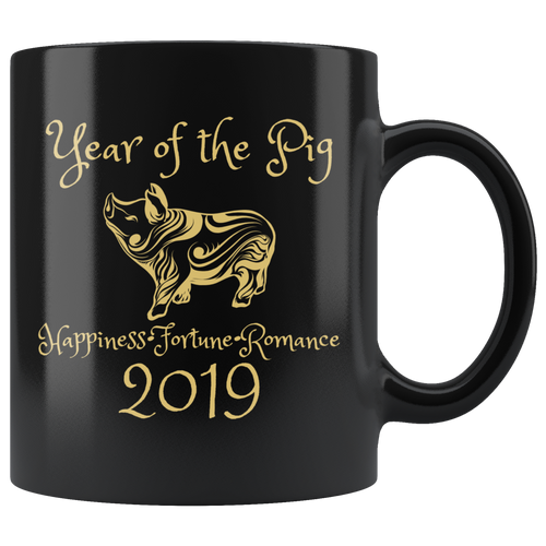Year of the Pig Coffee Mug 2019 Chinese New Year Zodiac - Hundredth Monkey Tees