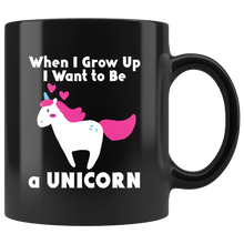 Load image into Gallery viewer, Unicorn When I Grow Up Cute Pink Purple Girls Graphic Coffee Mug
