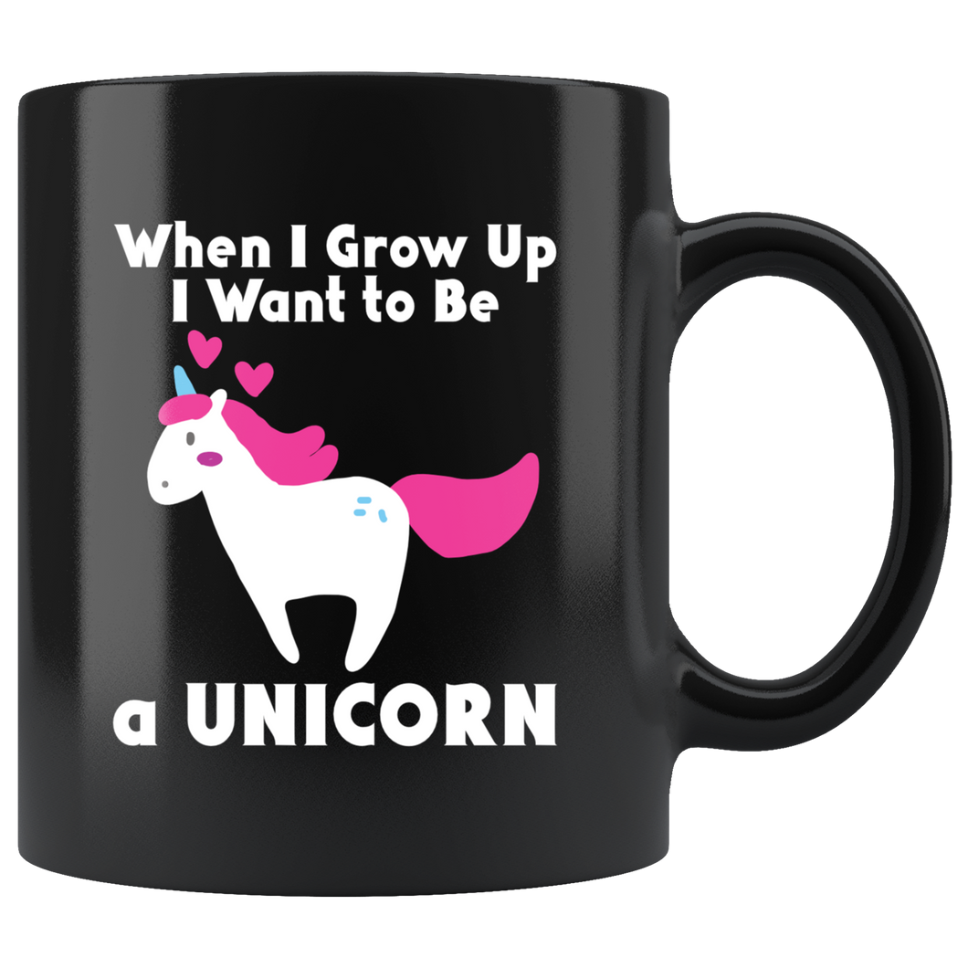 Unicorn When I Grow Up Cute Pink Purple Girls Graphic Coffee Mug