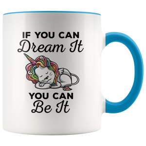 Dream Big Coffee Mug Unicorn Lion Rainbow Cute Gift - Hundredth Monkey Tees