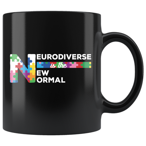 Neurodiversity Coffee Mug Celebrate Neurodiverse is the New Normal - Hundredth Monkey Tees