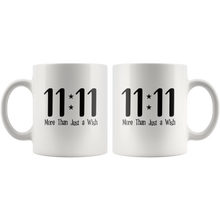 Load image into Gallery viewer, 11 11 More Than Just a Wish Spiritual Gateway Coffee Mug - Hundredth Monkey Tees