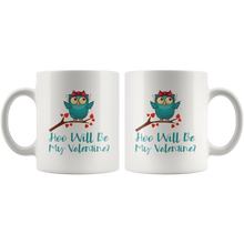 Load image into Gallery viewer, Valentine Owls Cute Valentine's Day Coffee Mug Matching Couples - Hundredth Monkey Tees
