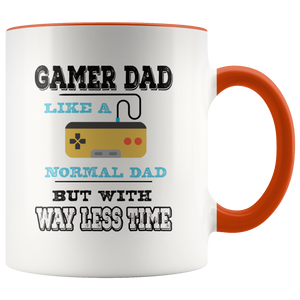 Gamer Dad Coffee Mug Video Games Geek Father Funny Gift - Hundredth Monkey Tees