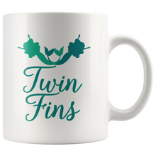 Load image into Gallery viewer, Twin Fins Mermaid Coffee Mug Cute BFF Best Friends Shirt - Hundredth Monkey Tees