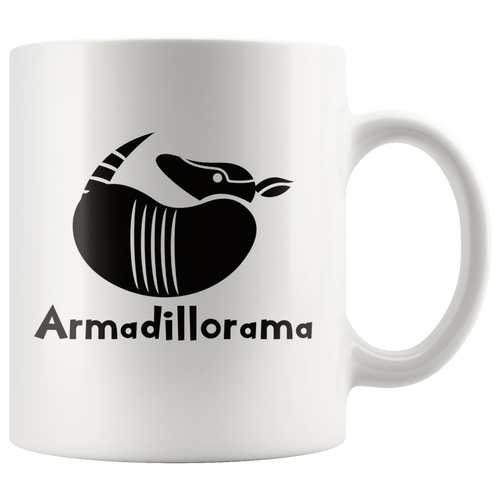 Funny Armadillo Coffee Mug Armadillorama Cute Animal Pose - Hundredth Monkey Tees