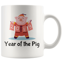 Load image into Gallery viewer, Year of the Pig Coffee Mug 2019 Chinese New Year Zodiac Cute - Hundredth Monkey Tees