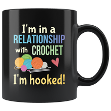 Load image into Gallery viewer, Funny Crochet Crafters Coffee Mug Committed Relationship Hooked Pun - Hundredth Monkey Tees