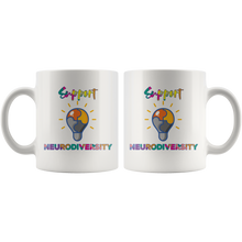Load image into Gallery viewer, Support Neurodiversity Coffee Mug Autism ADHD Awareness Gift - Hundredth Monkey Tees