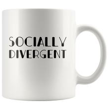 Load image into Gallery viewer, Antisocial Coffee Mug Funny Socially Divergent Introvert Gift antisocial funny Drinkware