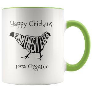 Farm Fresh Eggs Coffee Mug Chicken Organic Farmer Farmstand - Hundredth Monkey Tees